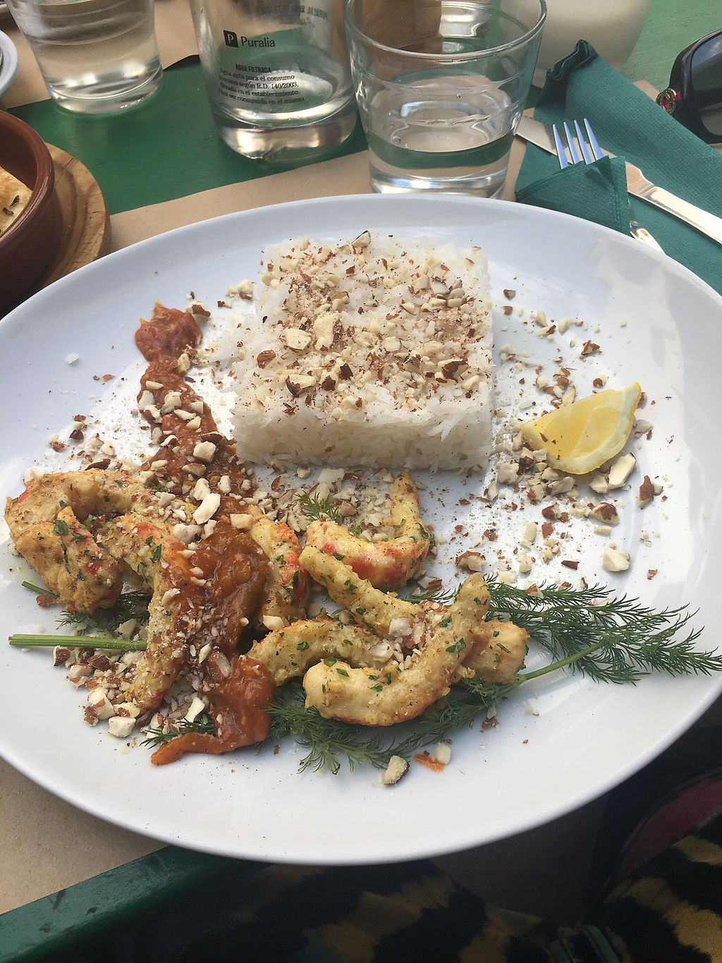 "Photo of Fuori di Zucca  by <a href=""/members/profile/kiiabby"">kiiabby</a> <br/>Vegan prawns with rice and curry sauce  <br/> April 4, 2018  - <a href='/contact/abuse/image/71702/380831'>Report</a>"