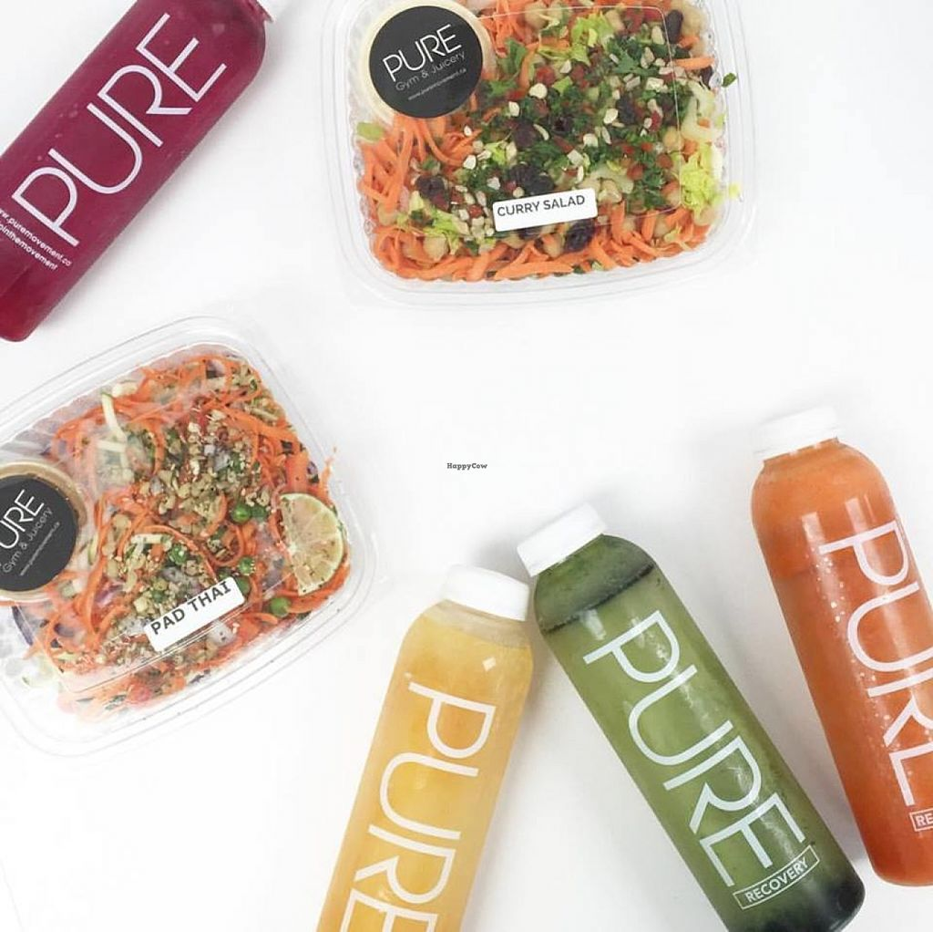 """Photo of Pure Juicery  by <a href=""""/members/profile/community"""">community</a> <br/>cold pressed juice and raw salad <br/> June 2, 2016  - <a href='/contact/abuse/image/71704/151949'>Report</a>"""