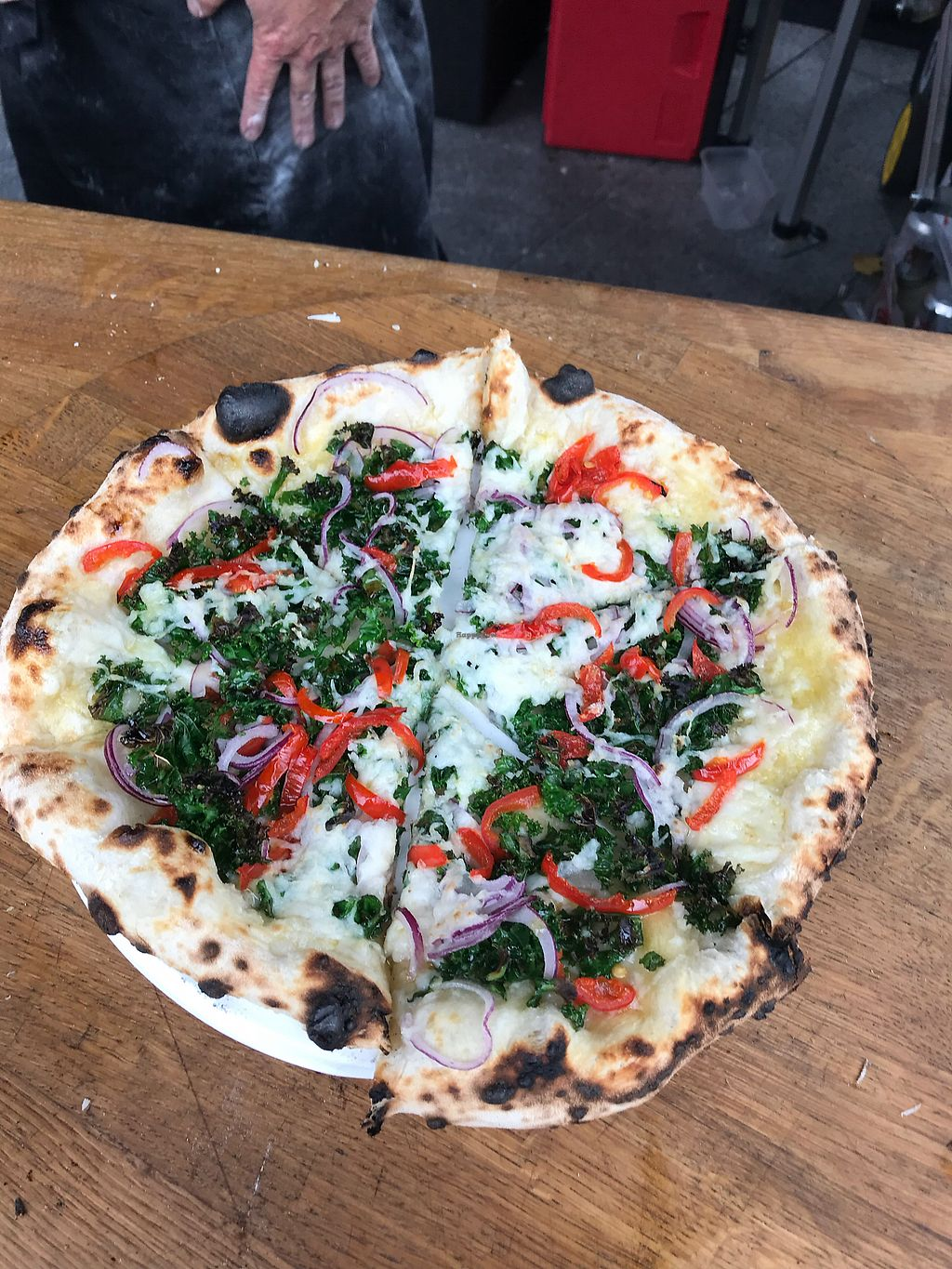 """Photo of Sneinton Vegan Market - Pop-up  by <a href=""""/members/profile/JuliaTrigg"""">JuliaTrigg</a> <br/>Mission pizza <br/> October 8, 2017  - <a href='/contact/abuse/image/71711/313164'>Report</a>"""