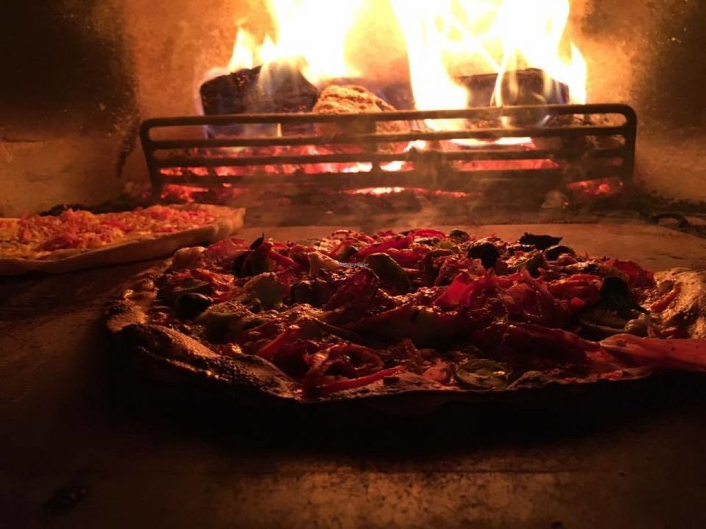 """Photo of Nether Edge Pizza Company  by <a href=""""/members/profile/Meaks"""">Meaks</a> <br/>Vegan Pizza <br/> July 29, 2016  - <a href='/contact/abuse/image/71732/163140'>Report</a>"""