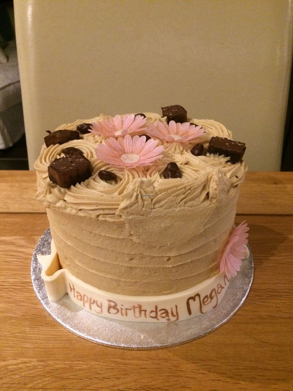 """Photo of The Exclusive Cake Shop & Vintage Tearoom   by <a href=""""/members/profile/Megsriley_82"""">Megsriley_82</a> <br/>Birthday Coffee cake  <br/> April 15, 2018  - <a href='/contact/abuse/image/71733/386312'>Report</a>"""