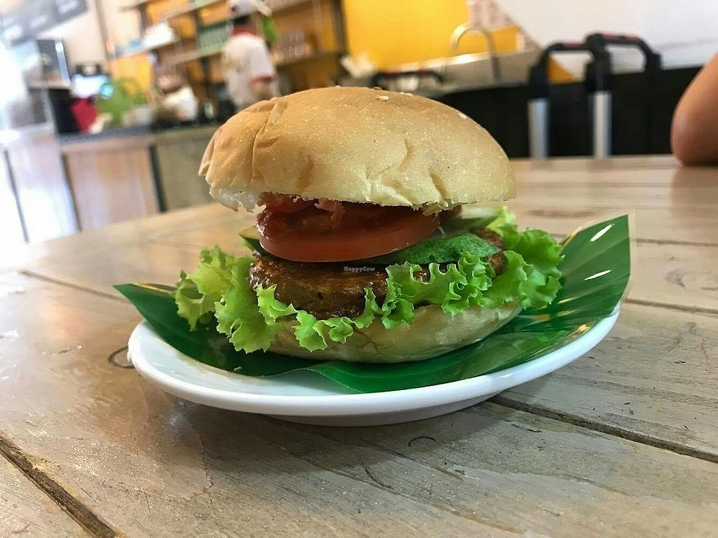 """Photo of Healthy Farm - Tran Hung Dao District 1  by <a href=""""/members/profile/turnvegan"""">turnvegan</a> <br/>Veg burger (29k dongs) <br/> July 26, 2017  - <a href='/contact/abuse/image/71752/284963'>Report</a>"""