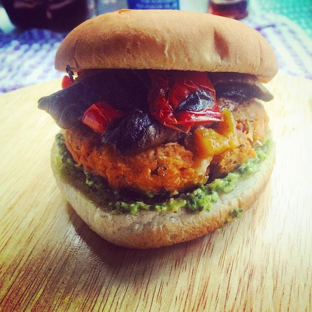 """Photo of Carrot and Cocoa  by <a href=""""/members/profile/community"""">community</a> <br/>vegan burger  <br/> April 22, 2016  - <a href='/contact/abuse/image/71778/145704'>Report</a>"""