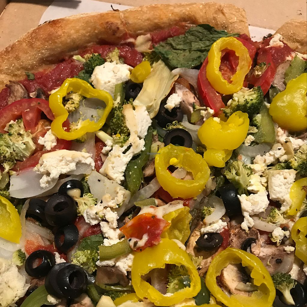 "Photo of Mellow Mushroom  by <a href=""/members/profile/MlS"">MlS</a> <br/>loaded vegan pizza with tofu and daiya cheese  <br/> May 19, 2017  - <a href='/contact/abuse/image/71802/260439'>Report</a>"