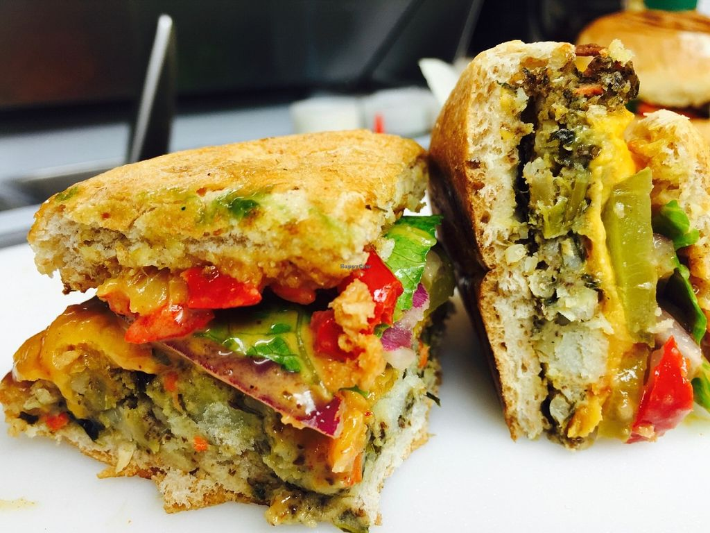 "Photo of Veg-In YYC  by <a href=""/members/profile/mbindal1"" class=""title__title"">mbindal1</a> <br/>Black bean burger <br/> June 13, 2016  - <a href='/contact/abuse/image/71808/153788'>Report</a>"