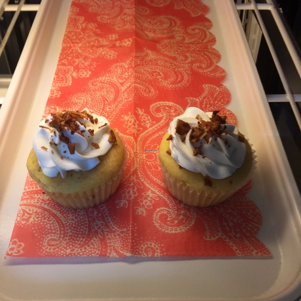 """Photo of Sweetery Vegan Bakery  by <a href=""""/members/profile/Pasadena4"""">Pasadena4</a> <br/>Vegan Bacon Cupcake! <br/> May 8, 2016  - <a href='/contact/abuse/image/71823/148065'>Report</a>"""