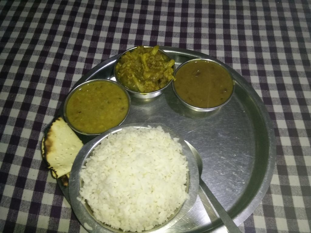 "Photo of New Satkar Vegetarian Restaurant  by <a href=""/members/profile/InnesPark"">InnesPark</a> <br/>Set Thali vegan  <br/> April 6, 2016  - <a href='/contact/abuse/image/71829/143127'>Report</a>"