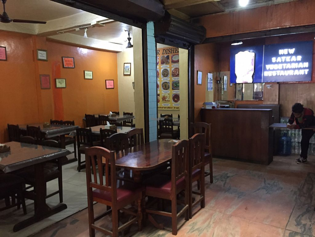 "Photo of New Satkar Vegetarian Restaurant  by <a href=""/members/profile/peterstuckings"">peterstuckings</a> <br/>Interior  <br/> November 13, 2016  - <a href='/contact/abuse/image/71829/189281'>Report</a>"