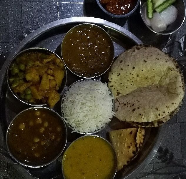 "Photo of New Satkar Vegetarian Restaurant  by <a href=""/members/profile/Gilogie"">Gilogie</a> <br/>Thali set (vegan version) <br/> September 9, 2016  - <a href='/contact/abuse/image/71829/274698'>Report</a>"