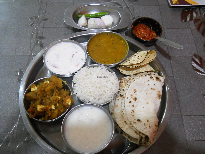 "Photo of New Satkar Vegetarian Restaurant  by <a href=""/members/profile/Masala-Dosa"">Masala-Dosa</a> <br/>Thali <br/> August 20, 2017  - <a href='/contact/abuse/image/71829/294658'>Report</a>"