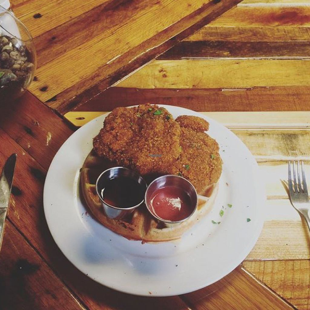 "Photo of Paisley Vegan Kitchen  by <a href=""/members/profile/kbs26"">kbs26</a> <br/>Chick'n and Waffles <br/> August 20, 2016  - <a href='/contact/abuse/image/71867/170161'>Report</a>"
