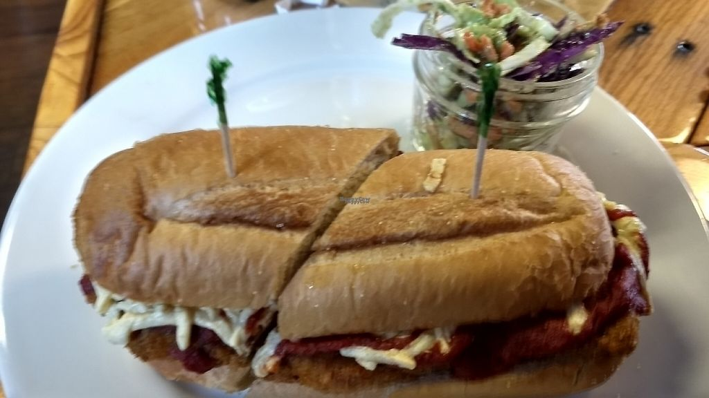 "Photo of Paisley Vegan Kitchen  by <a href=""/members/profile/Amveg"">Amveg</a> <br/>chicken parmesan sub and avocado slaw  <br/> April 15, 2017  - <a href='/contact/abuse/image/71867/248452'>Report</a>"