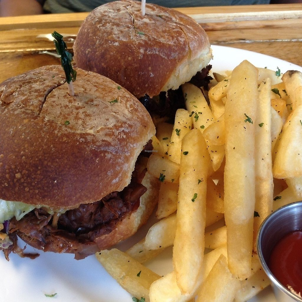 "Photo of Paisley Vegan Kitchen  by <a href=""/members/profile/Julie%20R"">Julie R</a> <br/>Jackfruit sliders and AMAZING fries.  My friend ordered this and loved it <br/> July 12, 2017  - <a href='/contact/abuse/image/71867/279502'>Report</a>"