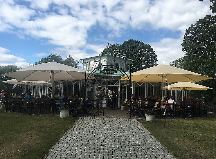 """Photo of Slottspaviljongen  by <a href=""""/members/profile/veganmom"""">veganmom</a> <br/>Utdoor seating  <br/> August 10, 2017  - <a href='/contact/abuse/image/71883/291735'>Report</a>"""