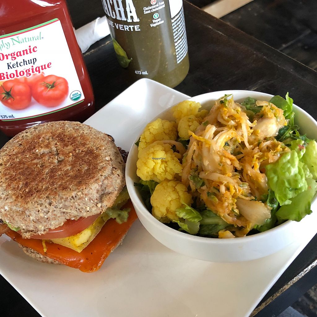 """Photo of Plant Matter Kitchen  by <a href=""""/members/profile/LinneaSahlgaard"""">LinneaSahlgaard</a> <br/>Breakfast muffin and kimchi salad <br/> April 23, 2018  - <a href='/contact/abuse/image/71889/389743'>Report</a>"""