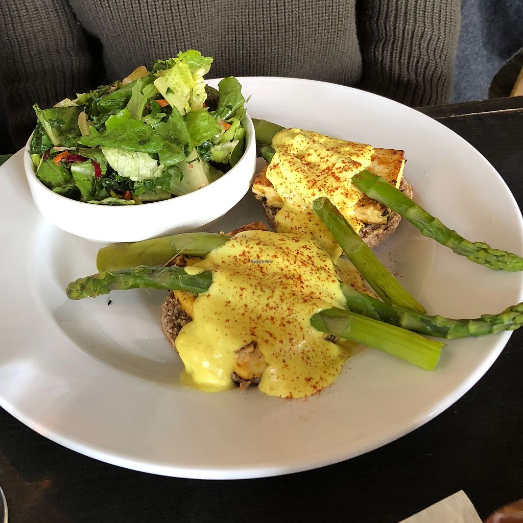 """Photo of Plant Matter Kitchen  by <a href=""""/members/profile/LinneaSahlgaard"""">LinneaSahlgaard</a> <br/>Amazing """"eggs"""" benedict <br/> April 23, 2018  - <a href='/contact/abuse/image/71889/389744'>Report</a>"""