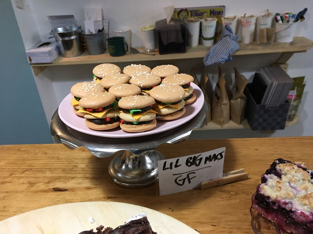 """Photo of Little Jo Berry's  by <a href=""""/members/profile/bethveganza"""">bethveganza</a> <br/>Lil Big Macs (gluten free) <br/> May 6, 2017  - <a href='/contact/abuse/image/71893/256304'>Report</a>"""