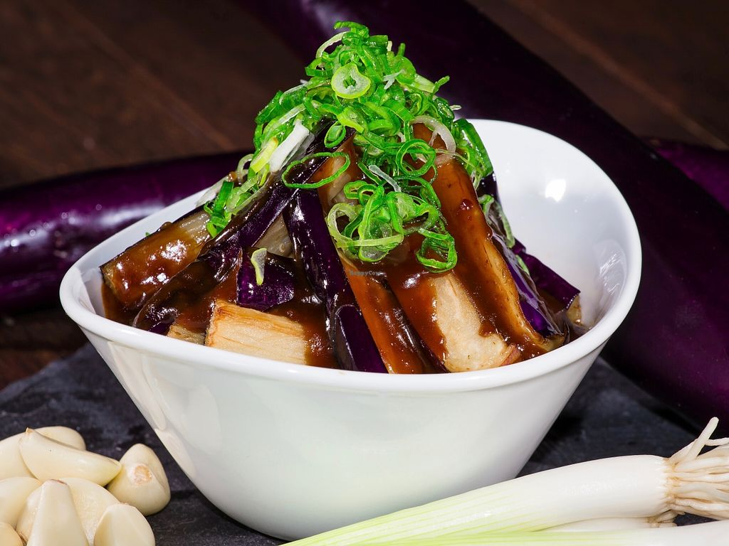 """Photo of Burrito San  by <a href=""""/members/profile/caridadfernandez"""">caridadfernandez</a> <br/>Szechuan Eggplant: Chinese eggplant wok-fried with a spicy chile-bean sauce <br/> April 13, 2016  - <a href='/contact/abuse/image/71901/144449'>Report</a>"""
