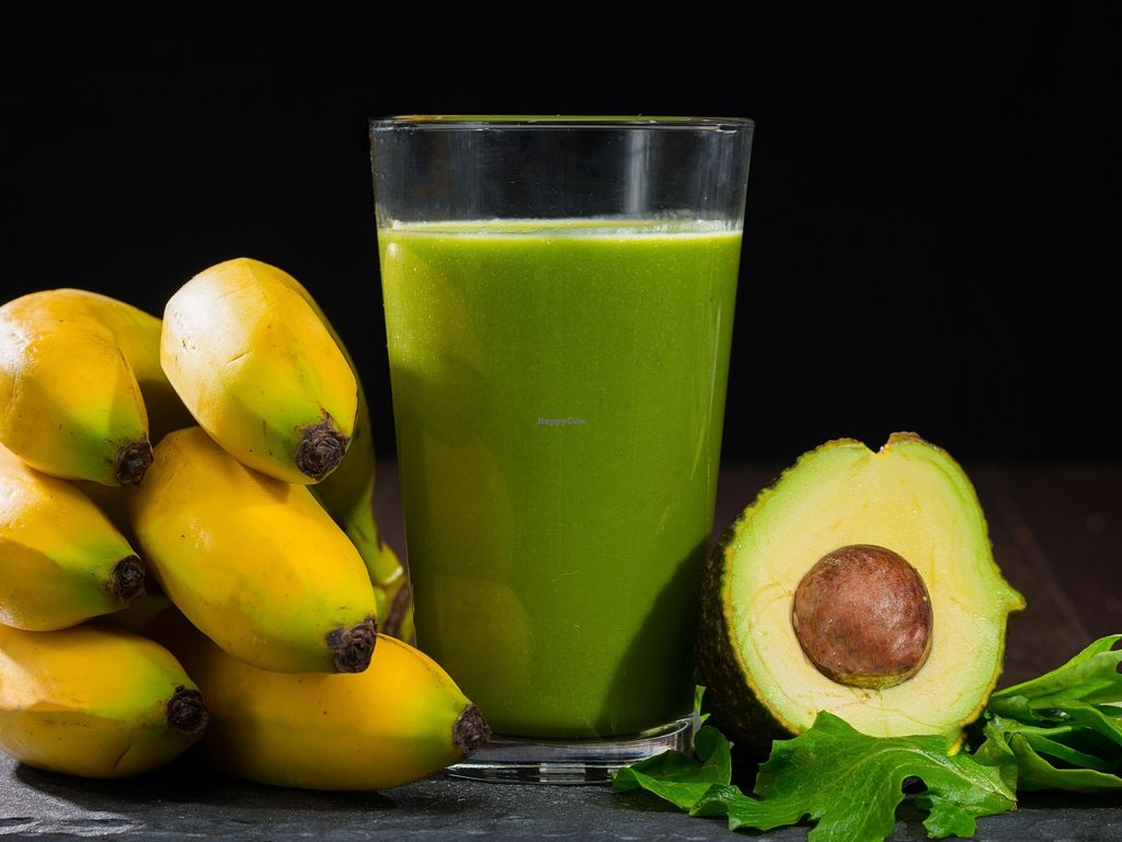 """Photo of Burrito San  by <a href=""""/members/profile/caridadfernandez"""">caridadfernandez</a> <br/>Midori Smoothie: A smooth blend of organic field greens, fresh fruit and coconut water <br/> April 13, 2016  - <a href='/contact/abuse/image/71901/144451'>Report</a>"""