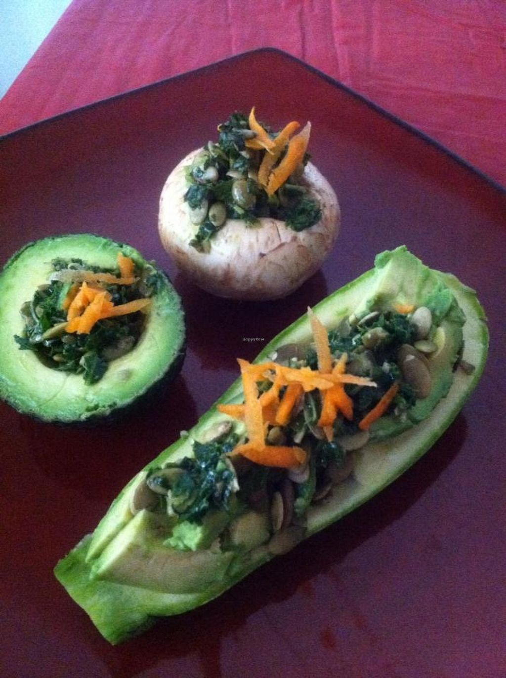 """Photo of Lotus World Foods  by <a href=""""/members/profile/community"""">community</a> <br/>Organic Raw Vegan Pumpkin Seed Cheez stuffed Veggies with Kale <br/> April 24, 2016  - <a href='/contact/abuse/image/71912/146058'>Report</a>"""