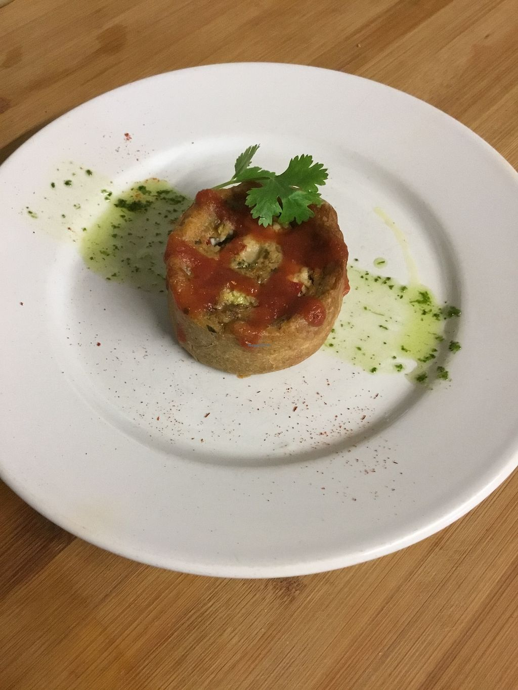 """Photo of Vegan Resto au Galoupio  by <a href=""""/members/profile/Tofuviking"""">Tofuviking</a> <br/>This mini vegetable tarte is like quiche. gluten free pastry, with courgette, aubergine, smoky tofu, capsicums, and homemade bbq sauce. such a devine little thing.   <br/> November 5, 2017  - <a href='/contact/abuse/image/71914/322313'>Report</a>"""