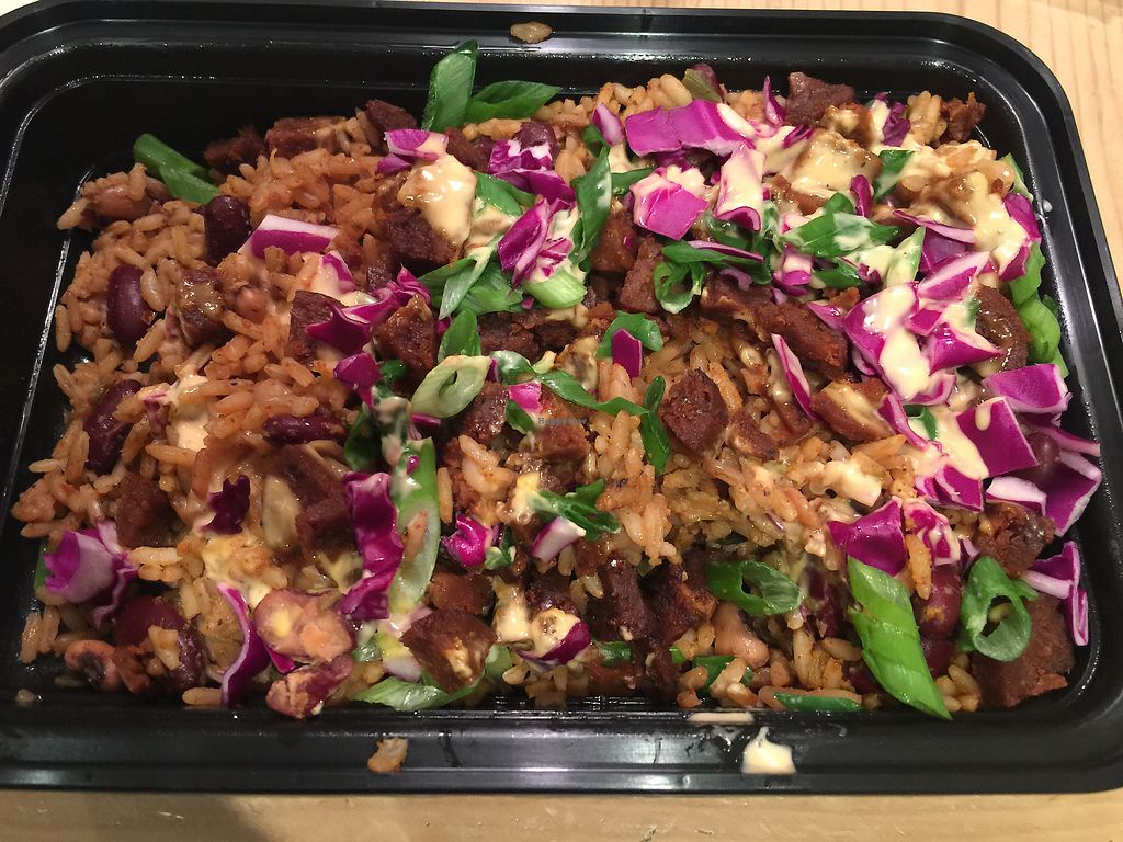 """Photo of Krimsey's Cajun Kitchen  by <a href=""""/members/profile/R12345"""">R12345</a> <br/>Take-out jambalaya  <br/> February 3, 2018  - <a href='/contact/abuse/image/71919/354209'>Report</a>"""