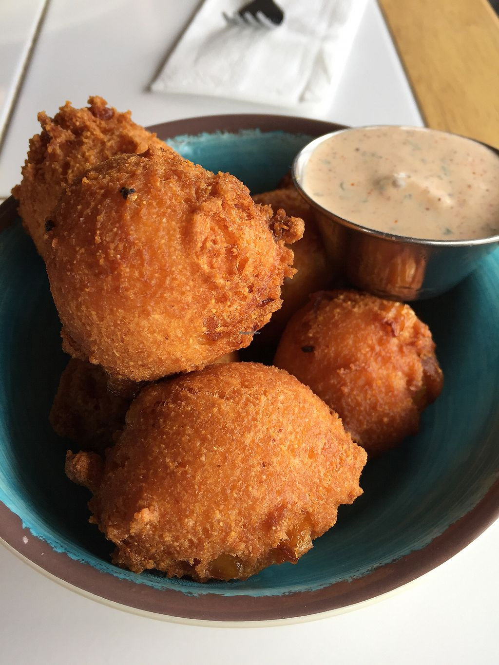 """Photo of Krimsey's Cajun Kitchen  by <a href=""""/members/profile/heathenvegan"""">heathenvegan</a> <br/>Hushpuppies <br/> March 3, 2018  - <a href='/contact/abuse/image/71919/366293'>Report</a>"""