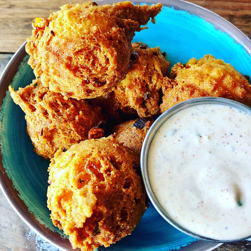 """Photo of Krimsey's Cajun Kitchen  by <a href=""""/members/profile/josephsuar"""">josephsuar</a> <br/>Hush Puppies with Cajun Ranch - AMAZING  <br/> March 18, 2018  - <a href='/contact/abuse/image/71919/372597'>Report</a>"""