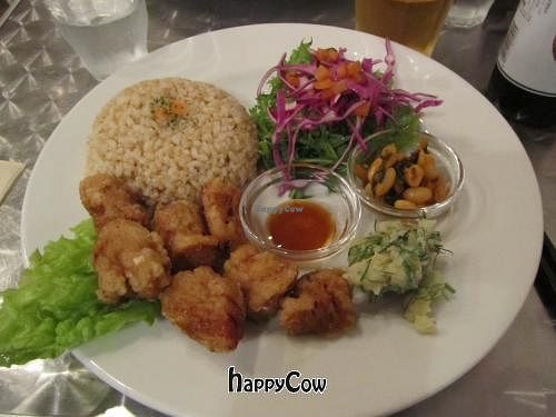 """Photo of CLOSED: Vegan Healing Cafe  by <a href=""""/members/profile/BlisterBlue"""">BlisterBlue</a> <br/>Nuggets, brown rice & salad <br/> April 12, 2013  - <a href='/contact/abuse/image/7192/46932'>Report</a>"""