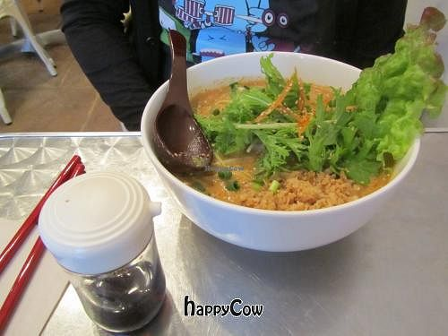 """Photo of CLOSED: Vegan Healing Cafe  by <a href=""""/members/profile/BlisterBlue"""">BlisterBlue</a> <br/>Sesame hot noodle soup <br/> April 12, 2013  - <a href='/contact/abuse/image/7192/46933'>Report</a>"""