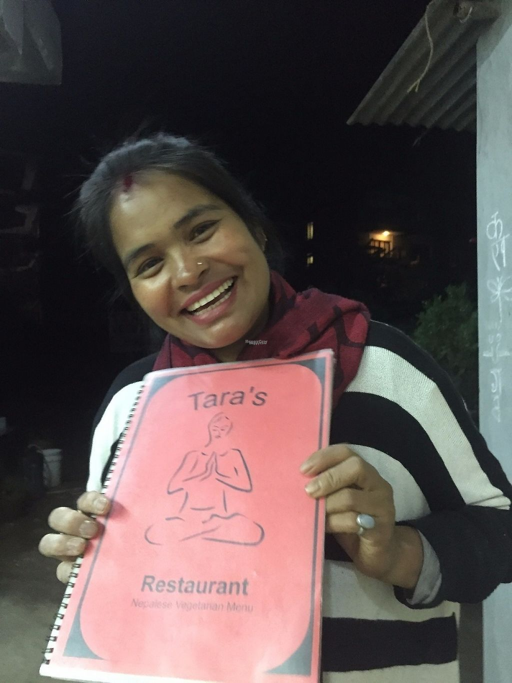 """Photo of Tara's Vegetarian Restaurant  by <a href=""""/members/profile/TomSkelton-Hiller"""">TomSkelton-Hiller</a> <br/>The lovely host! <br/> April 8, 2017  - <a href='/contact/abuse/image/72047/245689'>Report</a>"""