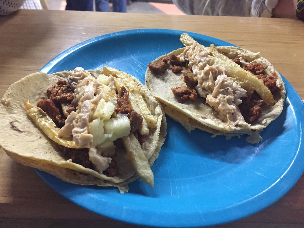 """Photo of A Darle Que es Taco Vegano   by <a href=""""/members/profile/SinzianaK"""">SinzianaK</a> <br/>Pastor and Campecheno  <br/> December 22, 2017  - <a href='/contact/abuse/image/72065/338013'>Report</a>"""