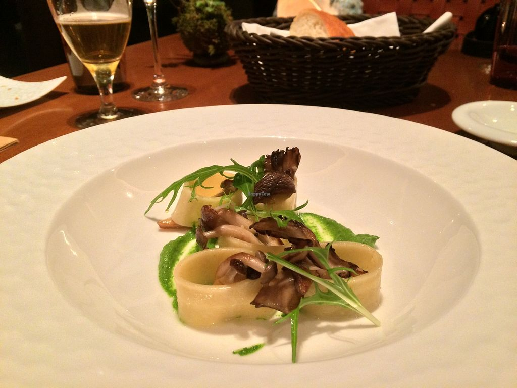 """Photo of Sankara Hotel and Spa  by <a href=""""/members/profile/JoshuaStefane"""">JoshuaStefane</a> <br/>Local mushroom and pesto pasta <br/> April 10, 2016  - <a href='/contact/abuse/image/72080/143746'>Report</a>"""