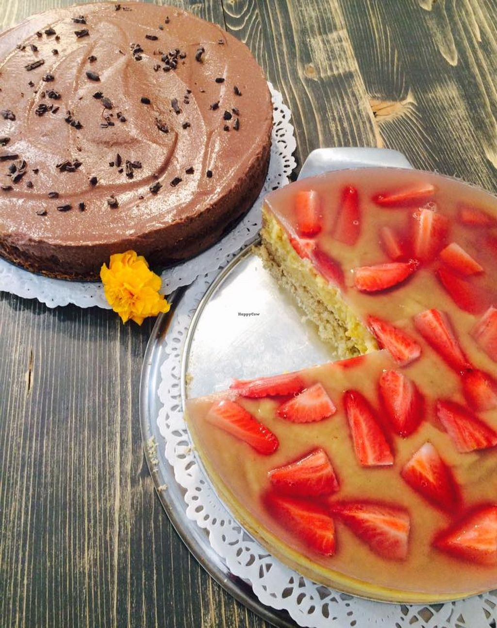 """Photo of MoMo Veg Cafe   by <a href=""""/members/profile/EliJane"""">EliJane</a> <br/>chocolate and vanilla cake- gluten and sugar free <br/> April 10, 2016  - <a href='/contact/abuse/image/72083/143717'>Report</a>"""
