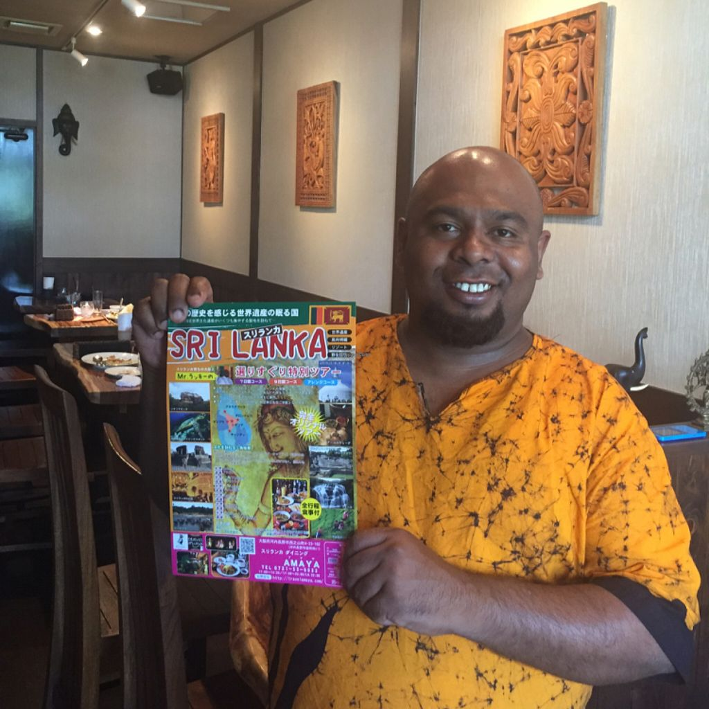 """Photo of Amaya Sri Lankan Restaurant   by <a href=""""/members/profile/Vegeiko"""">Vegeiko</a> <br/>Mr. Lucky - owner  <br/> July 2, 2016  - <a href='/contact/abuse/image/72084/157256'>Report</a>"""