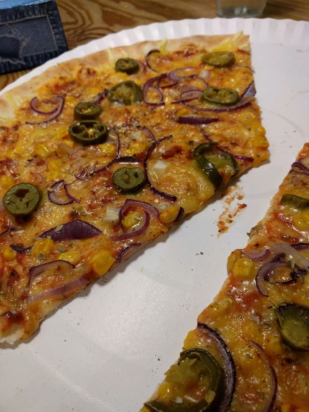 "Photo of Vege Pizza  by <a href=""/members/profile/Sezam"">Sezam</a> <br/>vegan jalapeno <br/> December 4, 2017  - <a href='/contact/abuse/image/72098/332318'>Report</a>"