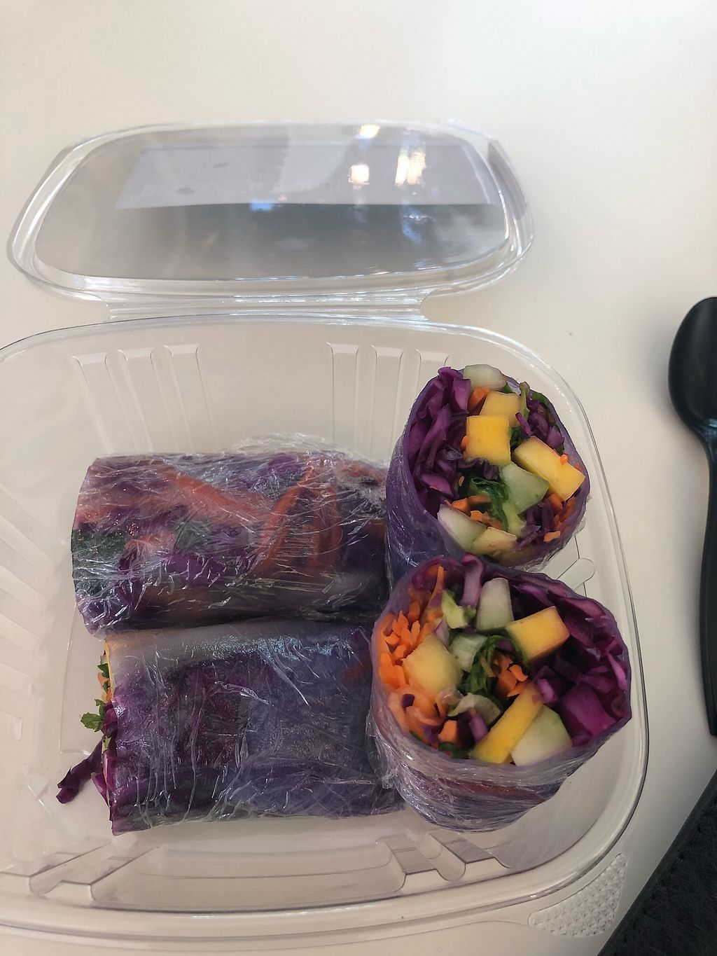 """Photo of Raw Junkies  by <a href=""""/members/profile/lizmu"""">lizmu</a> <br/>Rainbow Rice paper rolls <br/> January 23, 2018  - <a href='/contact/abuse/image/72151/350204'>Report</a>"""