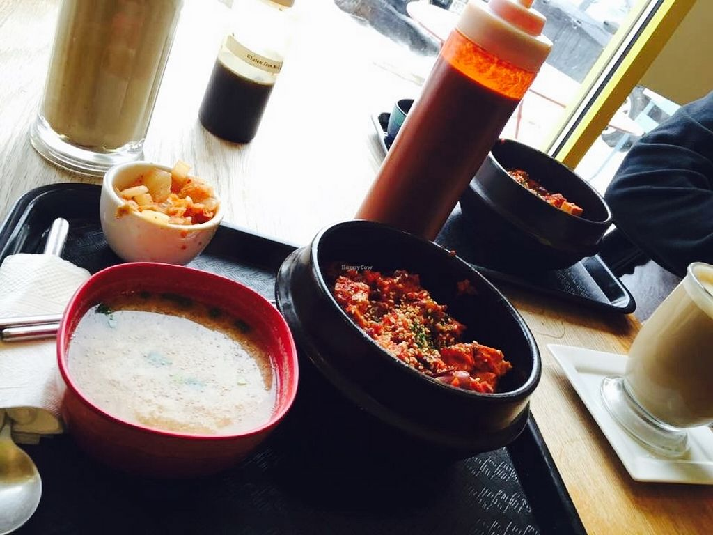 "Photo of A Cup of Peace  by <a href=""/members/profile/Arthousebill"">Arthousebill</a> <br/>Miso, korean bbq tofu, kimchee <br/> April 8, 2016  - <a href='/contact/abuse/image/72163/143432'>Report</a>"