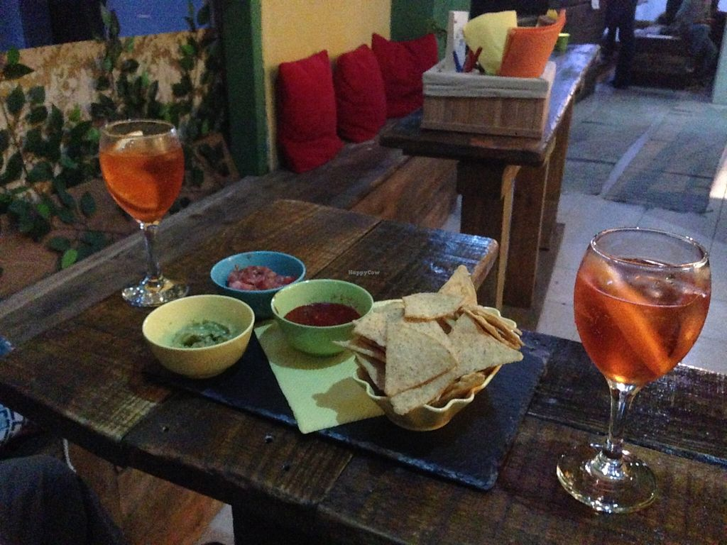 "Photo of Beats & Burritos  by <a href=""/members/profile/nasara"">nasara</a> <br/>Spritz and nachos <br/> May 8, 2016  - <a href='/contact/abuse/image/72193/148058'>Report</a>"