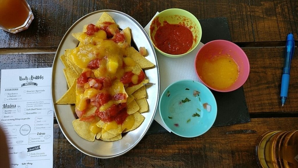 "Photo of Beats & Burritos  by <a href=""/members/profile/KyranCressey"">KyranCressey</a> <br/>nachos with salsa and mango pineapple sauce  <br/> June 14, 2017  - <a href='/contact/abuse/image/72193/268998'>Report</a>"