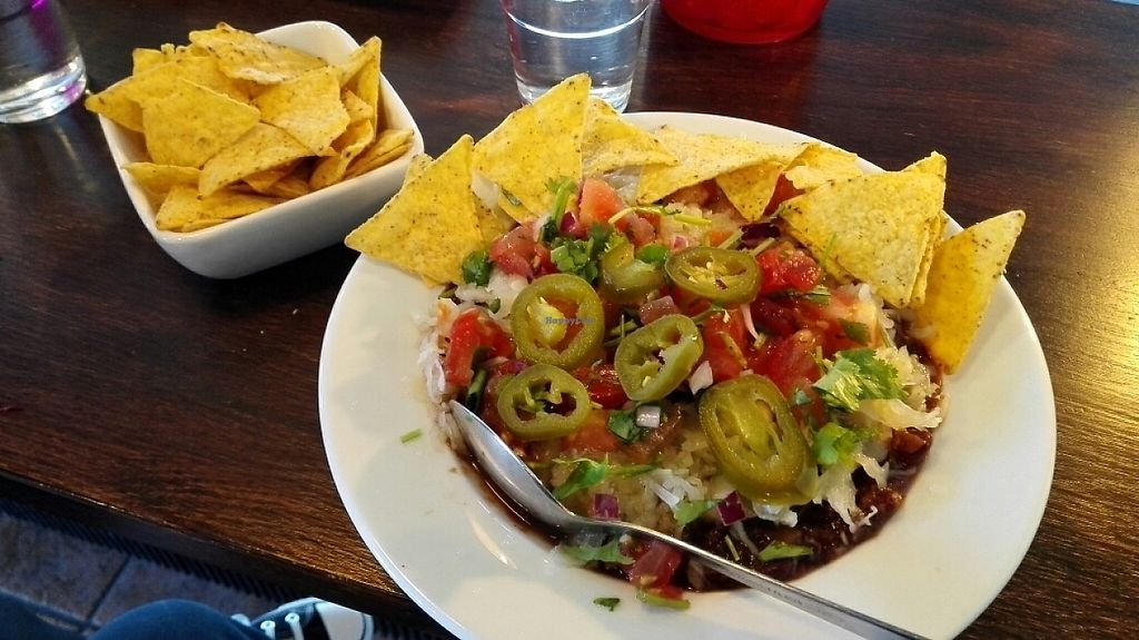 """Photo of Papito  by <a href=""""/members/profile/VeganVenturer"""">VeganVenturer</a> <br/>Vegan dish with extra nachos <br/> May 7, 2017  - <a href='/contact/abuse/image/72198/256556'>Report</a>"""