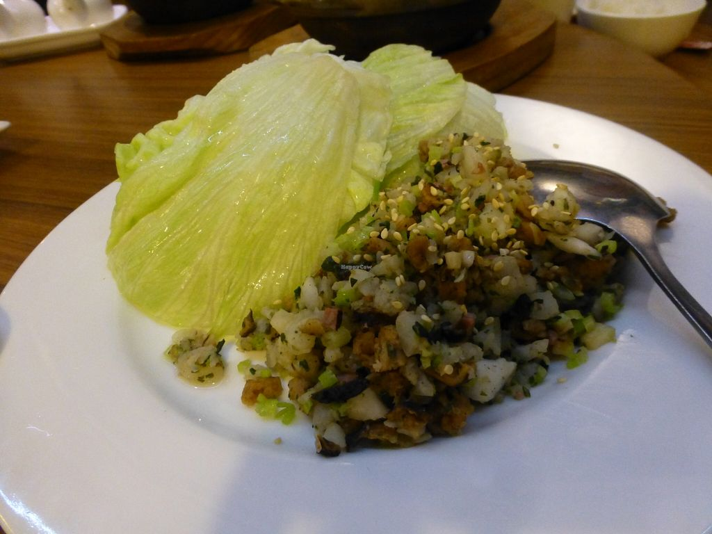 """Photo of Hui Tien Vegetarian  by <a href=""""/members/profile/steveveg"""">steveveg</a> <br/>Hui Tien Vegetarian lettuce with stuffing <br/> April 12, 2016  - <a href='/contact/abuse/image/72209/144296'>Report</a>"""