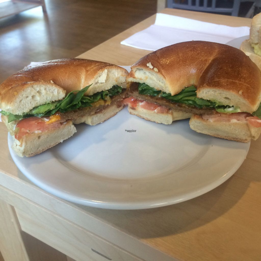 """Photo of Jolly Beans Cafe  by <a href=""""/members/profile/glassesgirl79"""">glassesgirl79</a> <br/>Green thumb breakfast bagel <br/> August 8, 2016  - <a href='/contact/abuse/image/72214/166977'>Report</a>"""