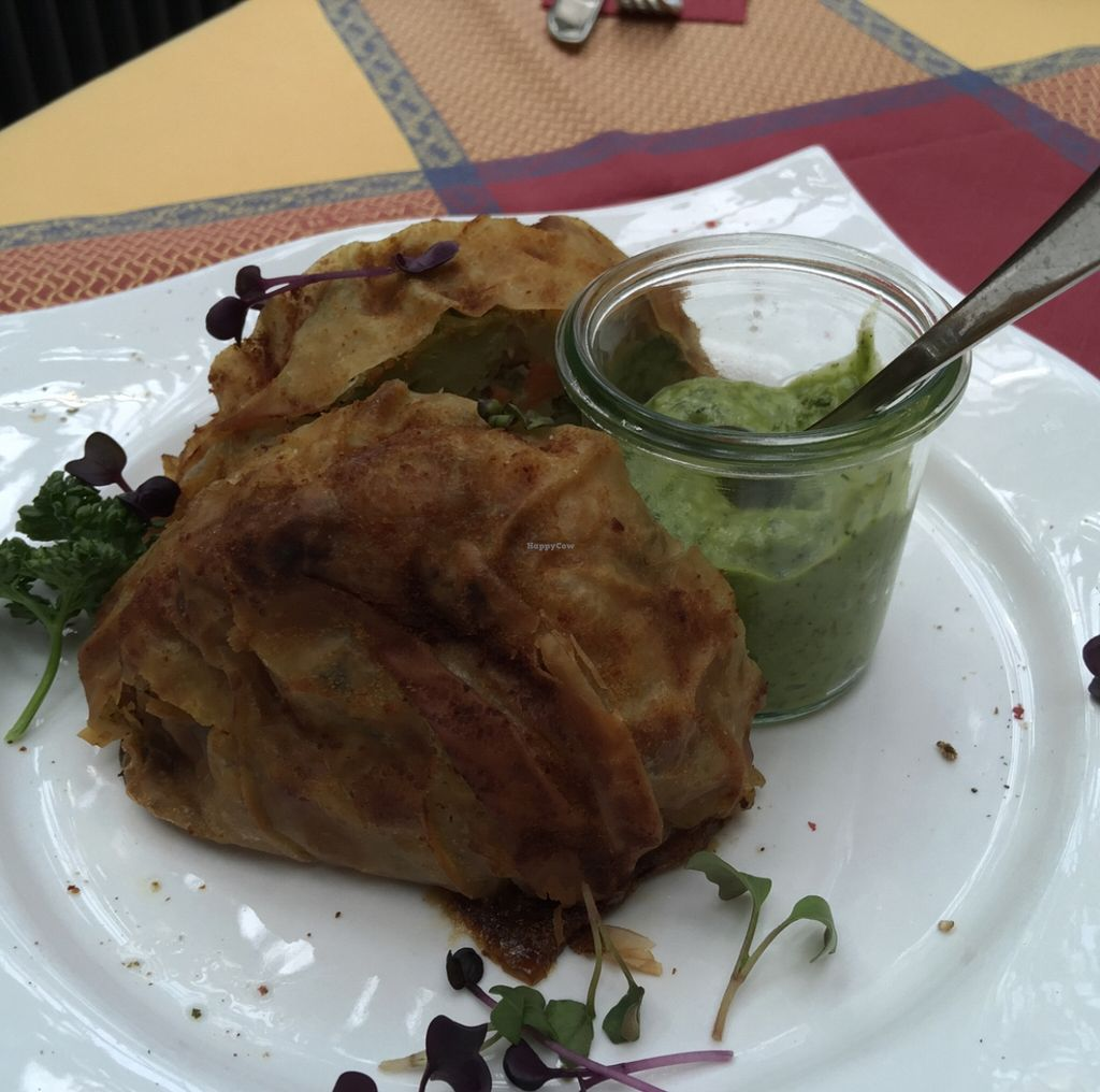 """Photo of Hinterhoefle  by <a href=""""/members/profile/macnothi"""">macnothi</a> <br/>Veggie strudel  <br/> May 3, 2016  - <a href='/contact/abuse/image/72249/147285'>Report</a>"""