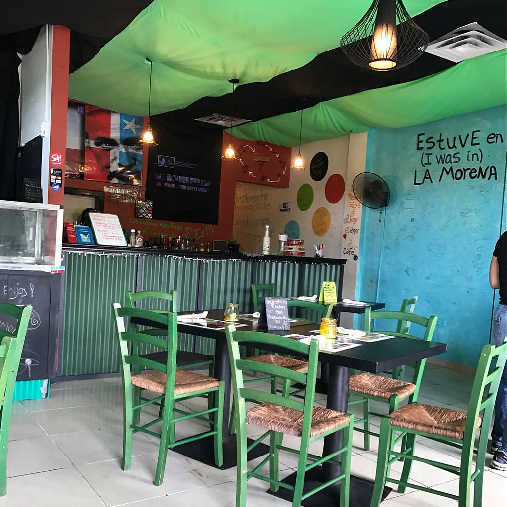 """Photo of La Morena Bar and Restaurant  by <a href=""""/members/profile/xmrfigx"""">xmrfigx</a> <br/>Cute decor with positive messages on all the walls <br/> February 17, 2017  - <a href='/contact/abuse/image/72257/227250'>Report</a>"""
