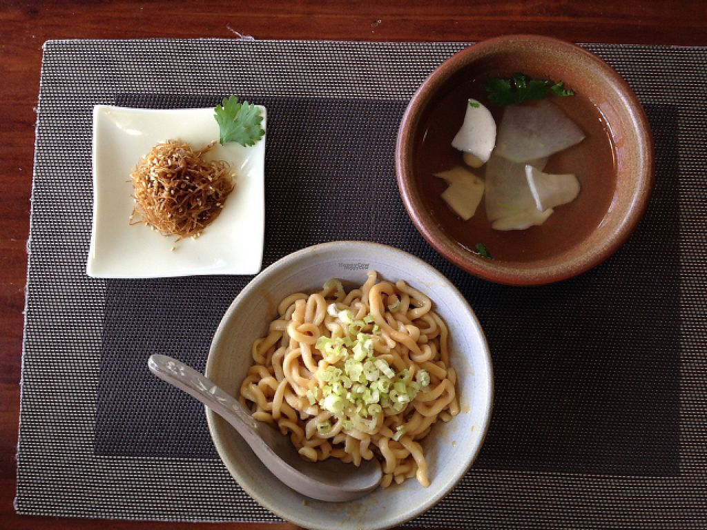 """Photo of Hsia An Chu Vegetarian  by <a href=""""/members/profile/bruixa86"""">bruixa86</a> <br/>Spicy noodles + Daily soup + extra appetizer <br/> February 18, 2017  - <a href='/contact/abuse/image/72275/227743'>Report</a>"""