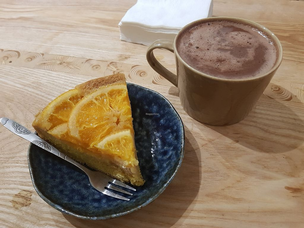 "Photo of La Studio  by <a href=""/members/profile/NatasjaBalm"">NatasjaBalm</a> <br/>Orange cake and hot chocolate <br/> April 14, 2018  - <a href='/contact/abuse/image/72278/385625'>Report</a>"