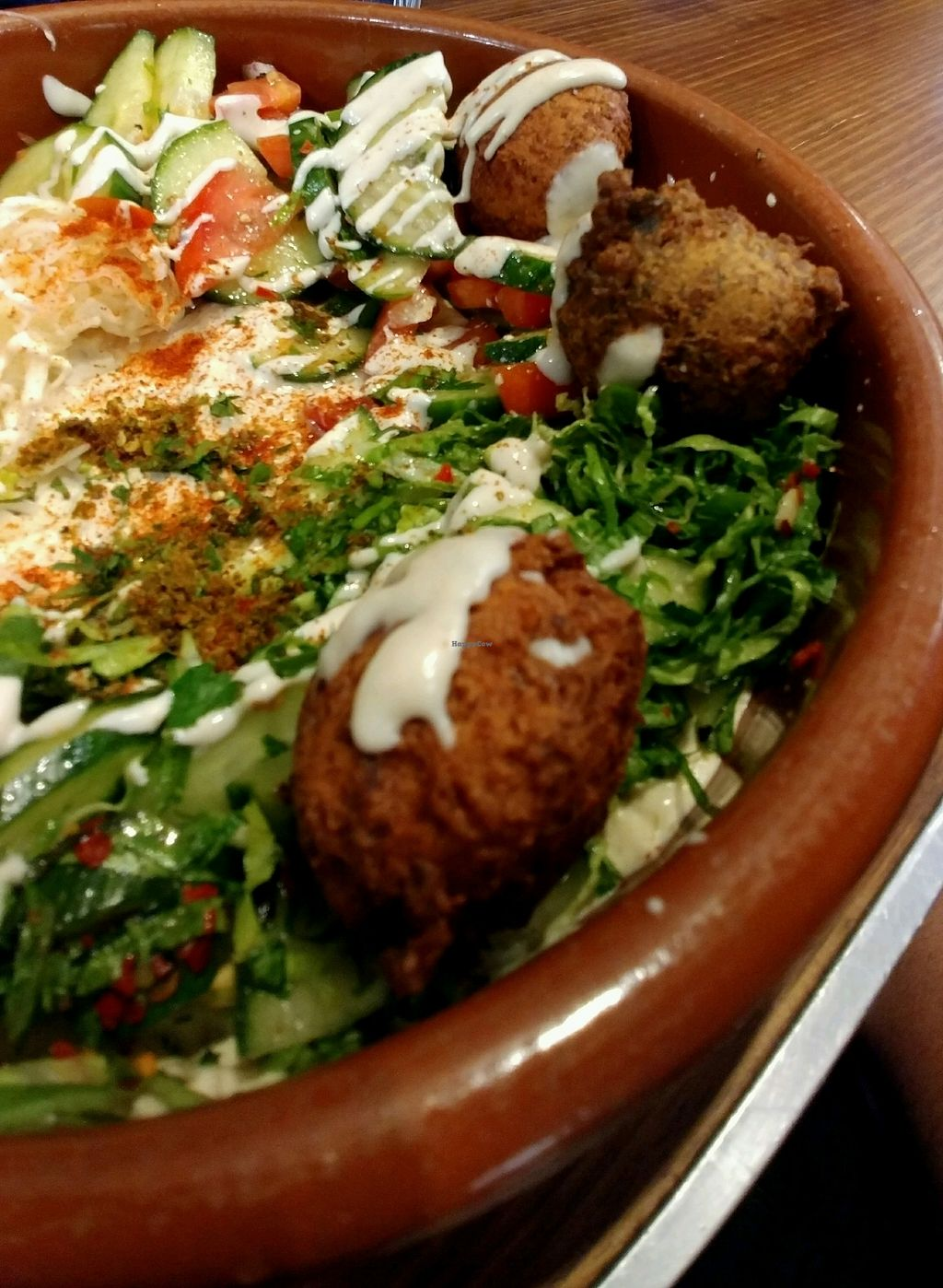 """Photo of Tahina  by <a href=""""/members/profile/karlaess"""">karlaess</a> <br/>falafel salad <br/> April 5, 2018  - <a href='/contact/abuse/image/72291/381073'>Report</a>"""