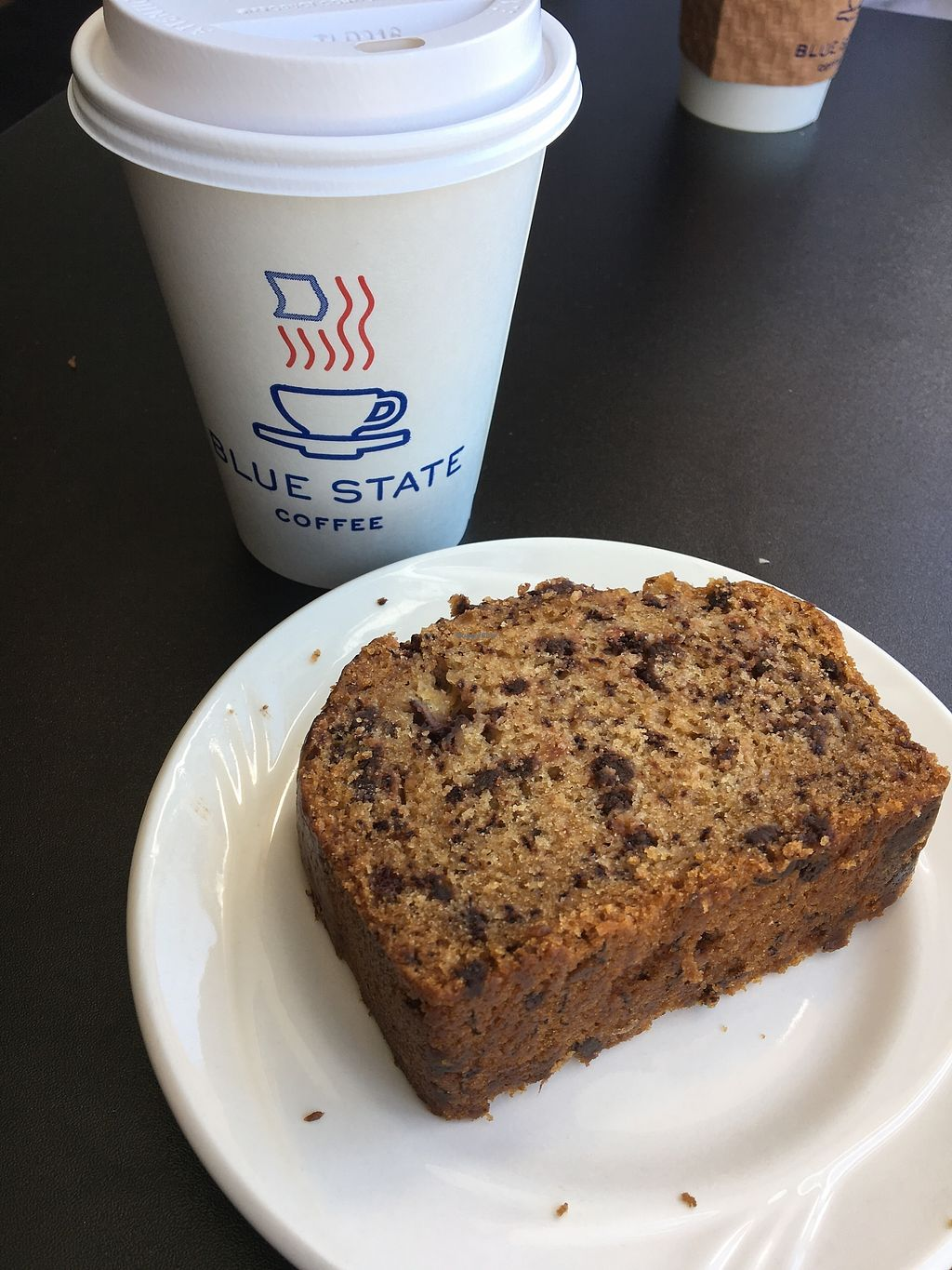 "Photo of Blue State Coffee  by <a href=""/members/profile/Dancingpurplemermaid"">Dancingpurplemermaid</a> <br/>Vegan Bananabread and Soy-Mocca <br/> June 26, 2017  - <a href='/contact/abuse/image/72305/273653'>Report</a>"