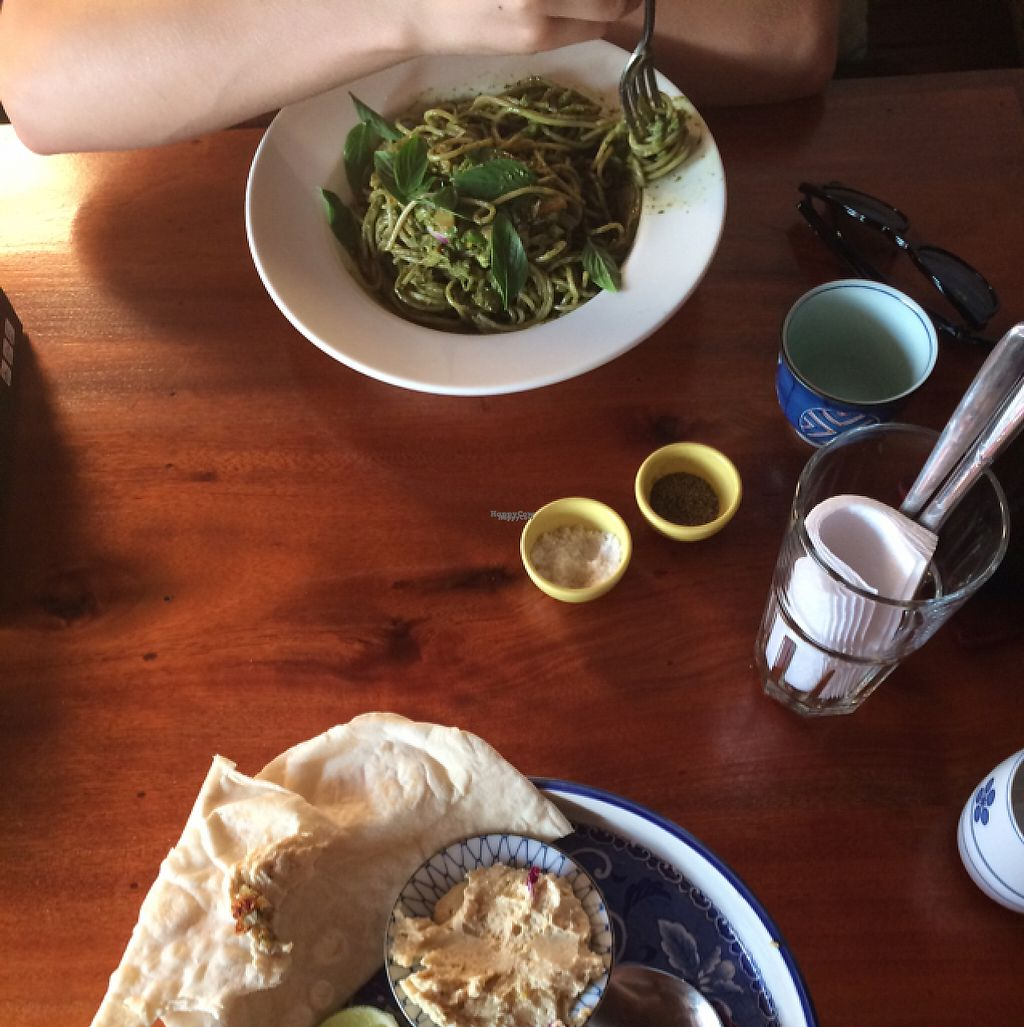 """Photo of Simple Things  by <a href=""""/members/profile/Mitjacinda"""">Mitjacinda</a> <br/>Pasta with the cashew basil pesto and falaffel plate <br/> April 22, 2017  - <a href='/contact/abuse/image/72312/250794'>Report</a>"""